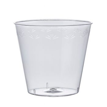 Mashers Disposable 1oz Clear Plastic Party Shot Glasses/Whisky Cups – Packs of 50