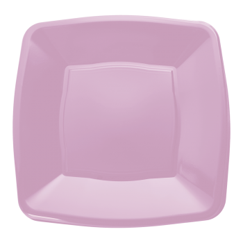 "Mashers 9"" Lilac Plastic Square Disposable Party Dinner/Side Plates – Case of 240"