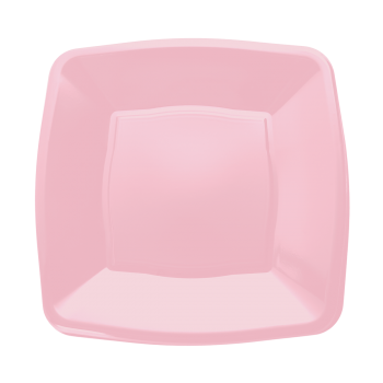 "Mashers 7"" Pink Plastic Wedding Party Square Disposable Side Plates – Case of 240"