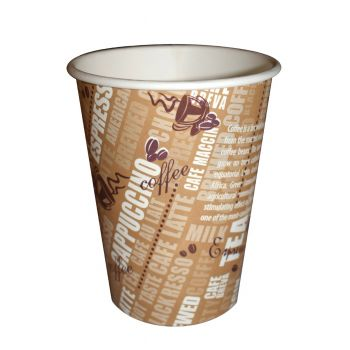 1000 x 12oz Cafe-Mocha Disposable Paper Cup