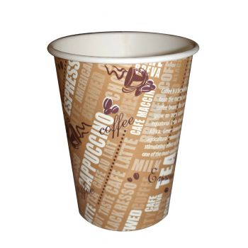 1000 x 8oz Cafe-Mocha Disposable Paper Cup