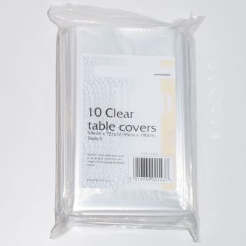 """100 x Clear Plastic Disposable Table Covers - 54 x 72"""""""