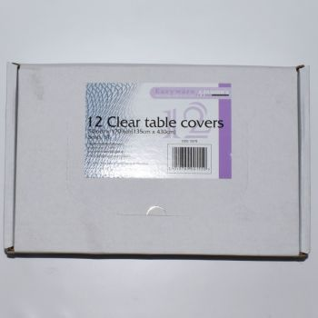 96 x Clear Plastic Disposable Table Covers - 54 x 170''