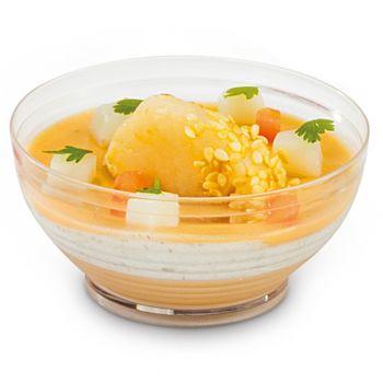480 x Mini Crystal Bowl Disposable Clear Plastic Dish
