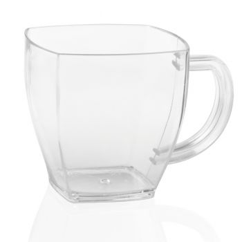 400 x Mashers Clear Plastic Disposable Espresso Dessert Mugs