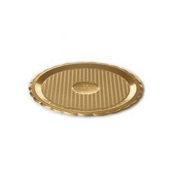 Mashers Medoro 22cm Gold Plastic Disposable Serving Tray Platters – Case of 123
