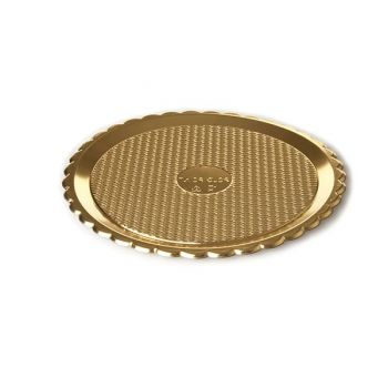 Mashers Medoro 28cm Gold Plastic Disposable Serving Tray Platters – Case of 99