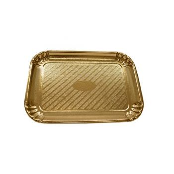 Gold Cardboard Cake / Sandwich Tray, No. 3 - Case of 300
