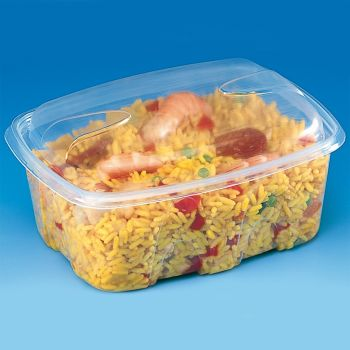 480 x Plastic Food Containers w/Lids - 500ml