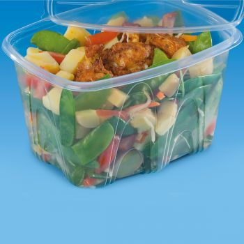 480 x Plastic Food Containers w/Lids - 1500ml