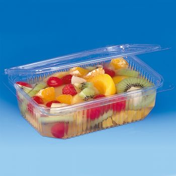 Mashers Optipack 750ml Rectangular Disposable Plastic Food Containers with Lids, Case of 400