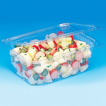Mashers Optipack 1000ml Rectangular Disposable Plastic Food Containers with Lids, Case of 400