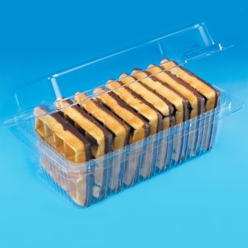 Mashers Disposable Clear Plastic Cake/Dessert/Sandwich Containers with Lids, Case of 240
