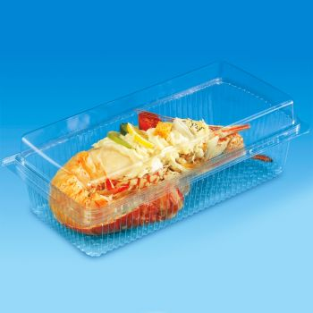 Mashers Clear Plastic Disposable Carry Out Food Containers with Lids, Case of 200