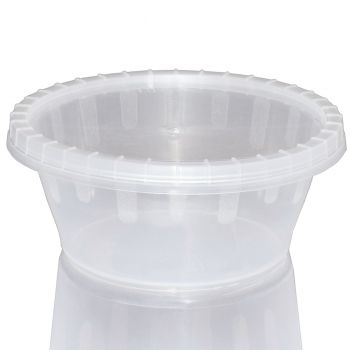 1000 x Micro Round Plastic Pots w/lids 2oz