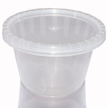 1000 x Micro Round Plastic Pots w/lids 4oz