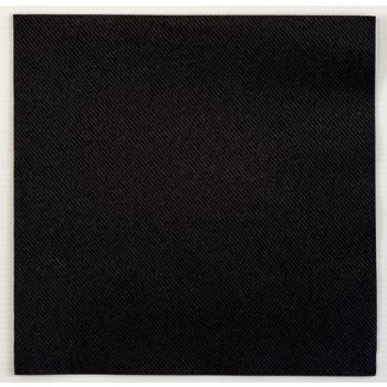 500 Luxury Black Linen Feel Airlaid Napkins 40cm - 3 Ply