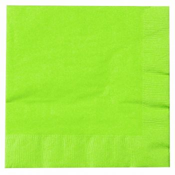 2000 x Lime Green Paper Tea Napkins Serviettes - 33cm/2ply