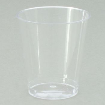 Mashers Disposable 4cl Clear Plastic Shot Glasses/Whisky Tumblers/Dessert Cups Case of 2500