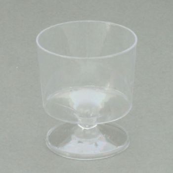 Disposable Clear Plastic Stemmed Shot / Taster Glasses, 2oz – Case of 360