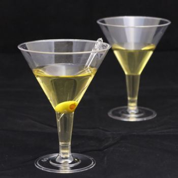 Mashers 7oz Disposable Clear Plastic Martini/Champagne/Dessert Glasses – Case of 144