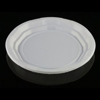 1500x White Economy Plastic Dinner Plates 8.5 inches/21.59cm
