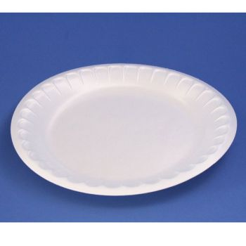 600 x  9''/23cm White Disposable Polystyrene Side Plates