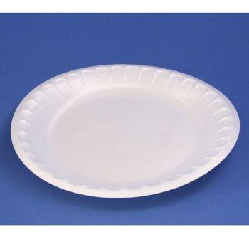 600 x White Disposable Polystyrene Dinner Plates 10''/25.5cm