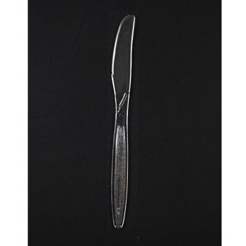 1000 x Clear Disposable Plastic Knives - Heavyweight