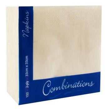 2000 x  Champagne Paper Napkins 33/2