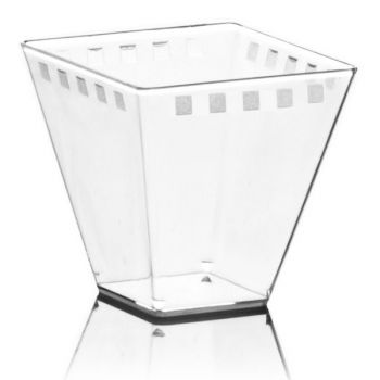 Mashers Era 320ml Square Clear Plastic Disposable Dessert Party Bowls – Case of 300