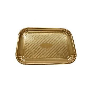 300 x Gold Cardboard Cake Tray 200mm x 145mm - No. 2