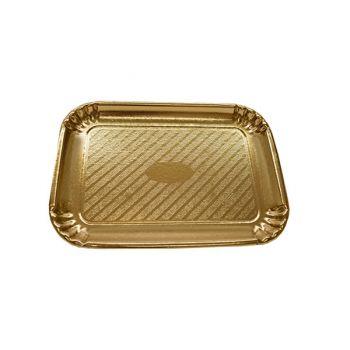 200 x Gold Cardboard Cake Tray - 280mm x 200mm - No. 4