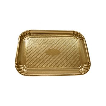 200 x Gold Cardboard Cake Tray - 335mm x 235mm - No. 6
