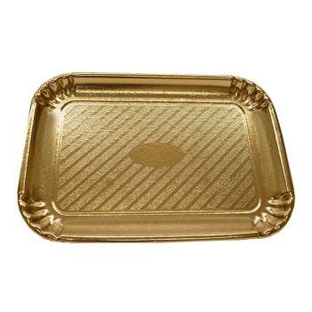 80 x Gold Cardboard Cake Tray - 385mm x 300mm - No. 8