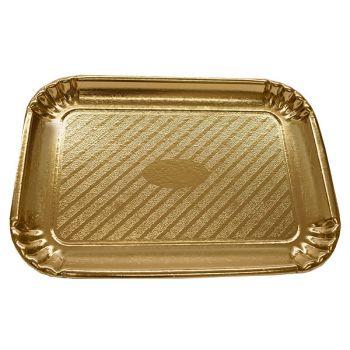 75 x Gold Cardboard Cake Tray - 465mm x 340mm - No. 9