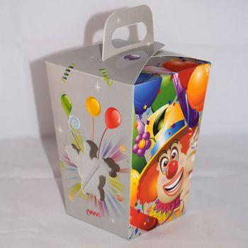 1 x Grey Clown Children Gift Box With Window