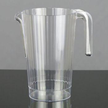 50 x 1.4 Ltr Clear Plastic Semi-Disposable Jugs