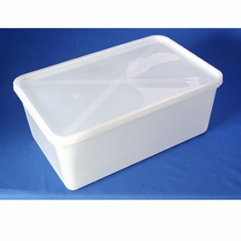 50 x Freezer/ Microwave Plastic Food Container - 4.5ltr