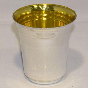 Mashers 60ml Mini Disposable Plastic Silver Wine Goblets Kiddush Cups – Case of 720