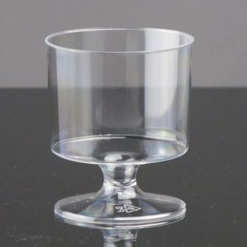 144 x 6oz Clear Plastic Disposable Wine Glass On Stem