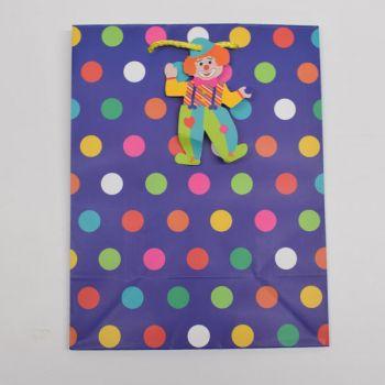 1 x Blue Medium Gift Bag - Spotty