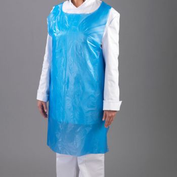100 x Blue Disposable Plastic Aprons on Roll