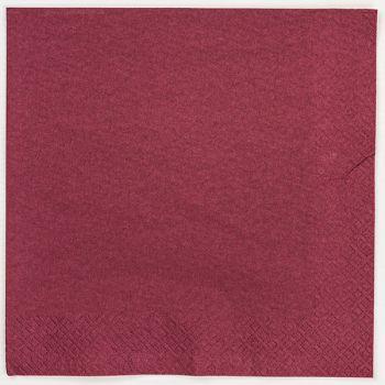 125 x Bordeaux Paper Dinner Napkins Serviettes - 40cm/2ply