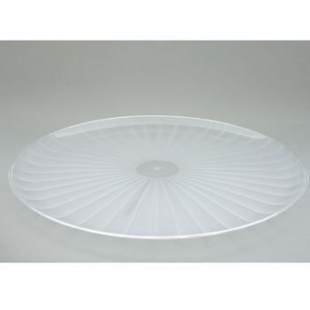25 x 12'' Round Plastic Platter - Clear