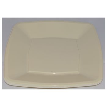 """Mashers 7"""" Cream Plastic Wedding Party Square Disposable Side Plates – Case of 240"""