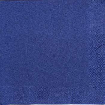 2000 x Navy  Blue Paper Tea Napkins Serviettes - 33cm/2ply