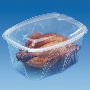 180 x Plastic Food Containers w/Lids - 2000ml