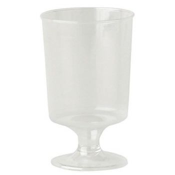 1000 x Clear Plastic Disposable Stemmed Liquer Glass - 4cl