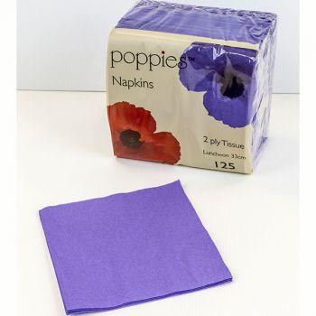 2000 x Purple Paper Dinner Napkins Serviettes - 40cm/2ply